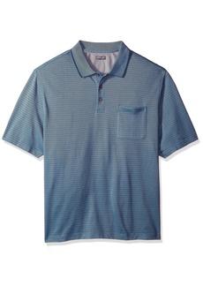 3a1b7fcf9 Van Heusen Big and Tall Flex Jacquard Short Sleeve Stripe Polo Shirt