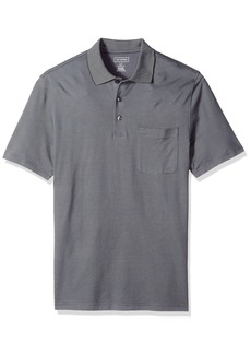 Van Heusen Men's Size Big Short Sleeve Jacquard Stripe Polo Shirt