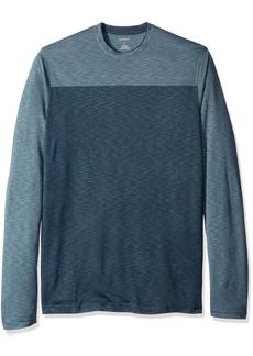 Van Heusen Men's Big and Tall Long Sleeve 2 Tone Slub Doubler Crew Shirt  2X-Large