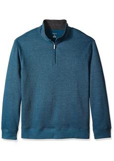 Van Heusen Men's Big and Tall Long Sleeve Spectator Solid 1/4 Zip Shirt  2X-Large