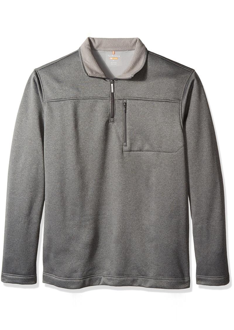 Van Heusen Men's Big and Tall Long Sleeve Traveler Solid 1/4 Zip Shirt