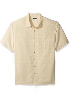 Van Heusen Men's Big and Tall Printed Rayon Short Sleeve Shirt  Large Tall