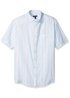 Van Heusen Men's Big and Tall Printed Slub Short Sleeve Shirt  X-Large Tall