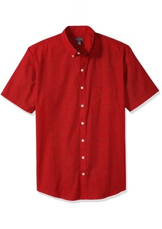 Van Heusen Men's Big and Tall Wrinkle Free Short Sleeve Button Down Check Shirt