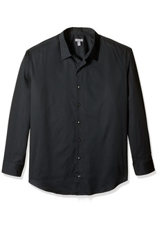Van Heusen Men's Big Long Sleeve Stripe Sateen Shirt  X-Large Tall