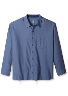 Van Heusen Men's Big Never Tuck Long Sleeve Shirt  Large Tall
