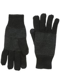 Van Heusen Men's Birdseye Glove Black