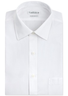 Van Heusen Men's Classic-Fit White Poplin Dress Shirt