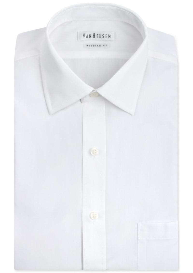 Van Heusen Van Heusen Mens Classic Fit White Poplin Dress Shirt