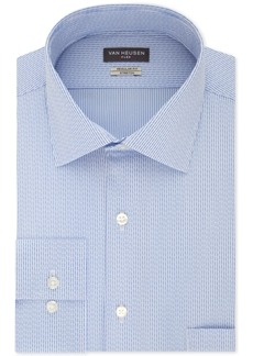 Van Heusen Men's Classic/Regular Fit Flex Collar Stretch Pattern Dress Shirt