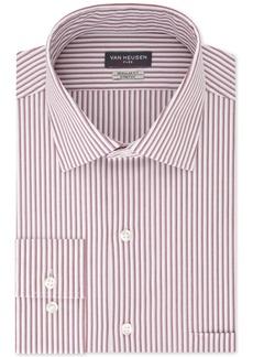 Van Heusen Men's Classic/Regular-Fit Performance Stretch Wrinkle-Free Flex-Collar Red Stripe Dress Shirt