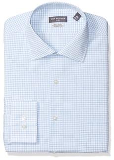 """Van Heusen Men's Dress Shirt Flex Collar Reg Fit Check  17.5"""" Neck 36-37 Sleeve"""