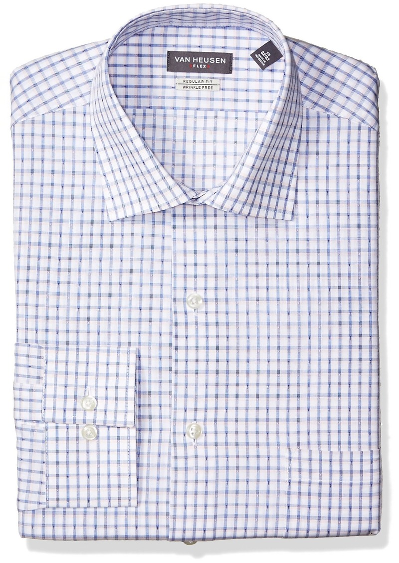 f47f3957559 Van Heusen Dress Shirt Fitted Poplin Solid Long Sleeve Shirt – EDGE ...