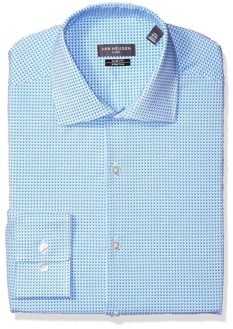 Van Heusen Van Heusen Mens Dress Shirt Flex Collar Slim Fit Print