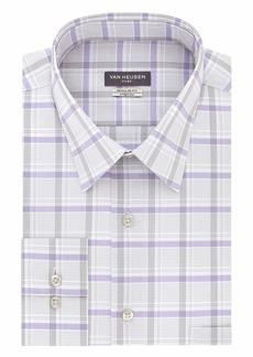 Van Heusen Men's Dress Shirt Regular Fit Flex Collar Stretch Check   (Medium)