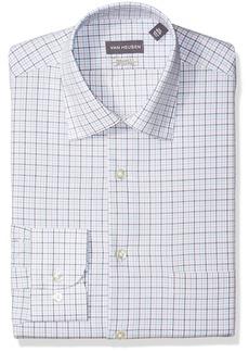 """Van Heusen Men's Dress Shirt Regular Fit Plaid  14.5"""" Neck 32-33 Sleeve"""