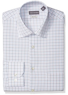 Van Heusen Men's Dress Shirt Regular Fit Plaid