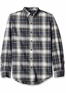 Van Heusen Men's Flex Long Sleeve Button Down Stretch Plaid Shirt