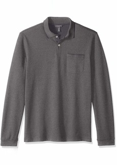 Van Heusen Men's Flex Long Sleeve Jaspe Solid Polo Shirt