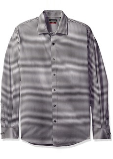 Van Heusen Men's Flex Long Sleeve Stretch Shirt Grey Dark Shadow