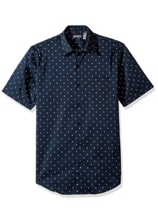 Van Heusen Men's Flex Short Sleeve Button Down Print Shirt