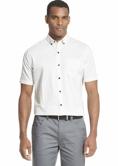 Van Heusen Men's Flex Short Sleeve Button Down Print Shirt