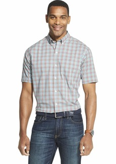 Van Heusen Men's Flex Short Sleeve Button Down Tattersal Shirt