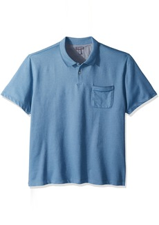 Van Heusen Men's Flex Short Sleeve Stretch Solid Polo Shirt deep Blue Provincial