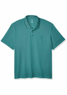 Van Heusen Men's Flex Short Sleeve Stretch Stripe Polo Shirt  2X-Large