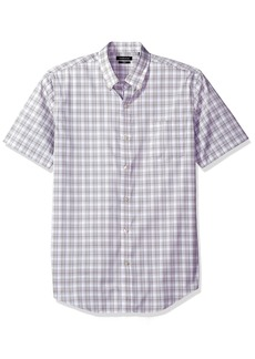 Van Heusen Men's Flex Stretch Short Sleeve Non Iron Shirt Grey