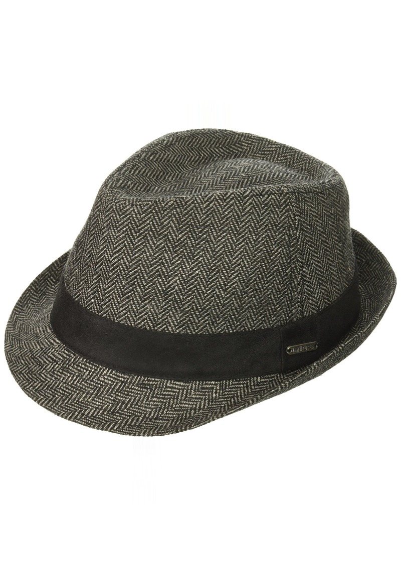 d3a3272d37a Van Heusen Men S Herringbone Fedora Suede Hat Band Large