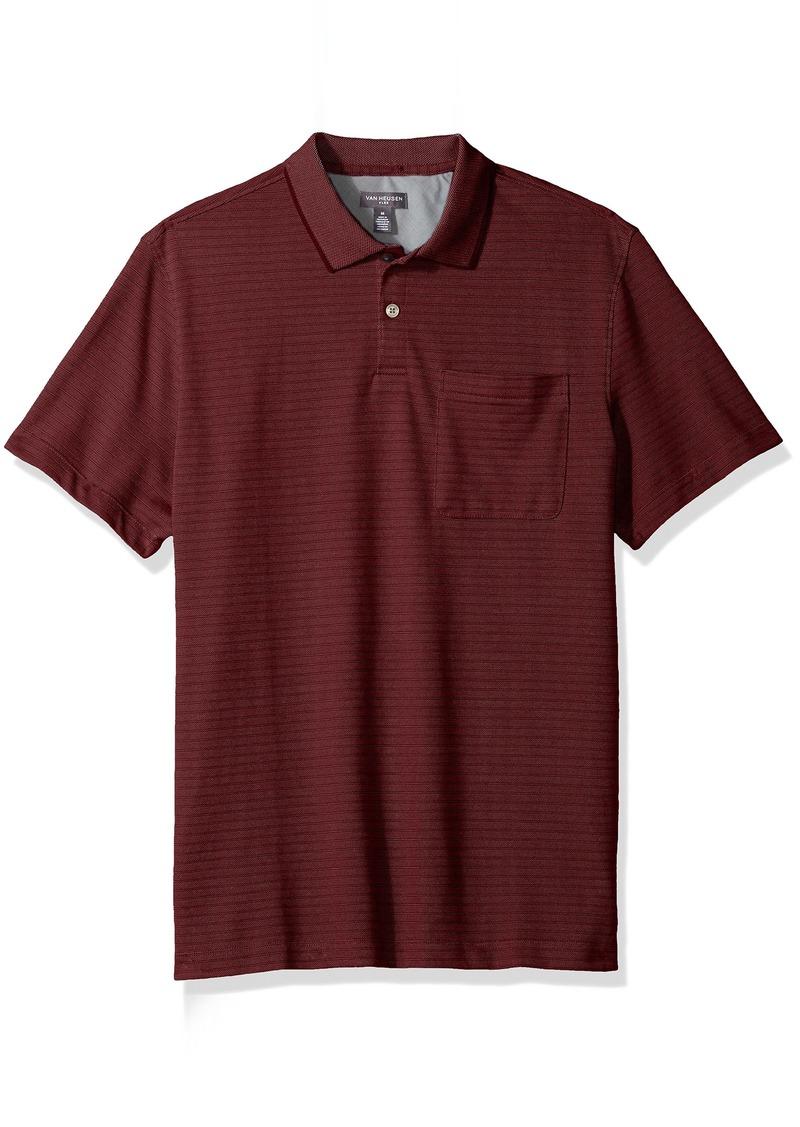 40025079 SALE! Van Heusen Van Heusen Men's Jacquard Short Sleeve Polo