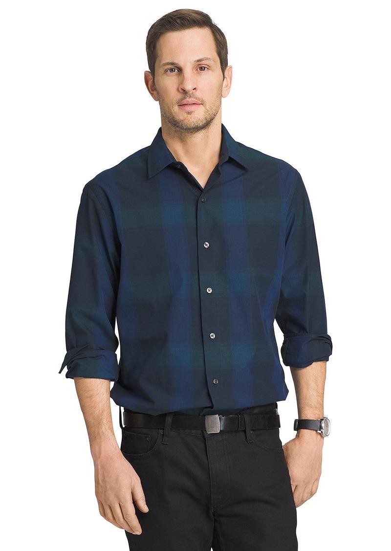 Van Heusen Men's Long Sleeve Engineer Shirt