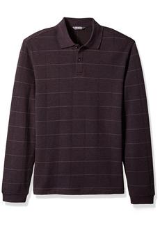 Van Heusen Men's Long Sleeve Jaspe Polo