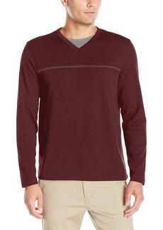 Van Heusen Men's Long Sleeve Jaspe V-Neck Shirt