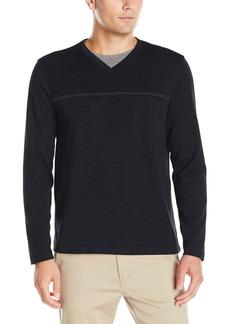 Van Heusen Men's Long Sleeve Jaspe V-Neck Shirt  2X-Large