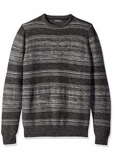 Van Heusen Men's Long Sleeve Marled Mixed Stitch Sweater 5GG