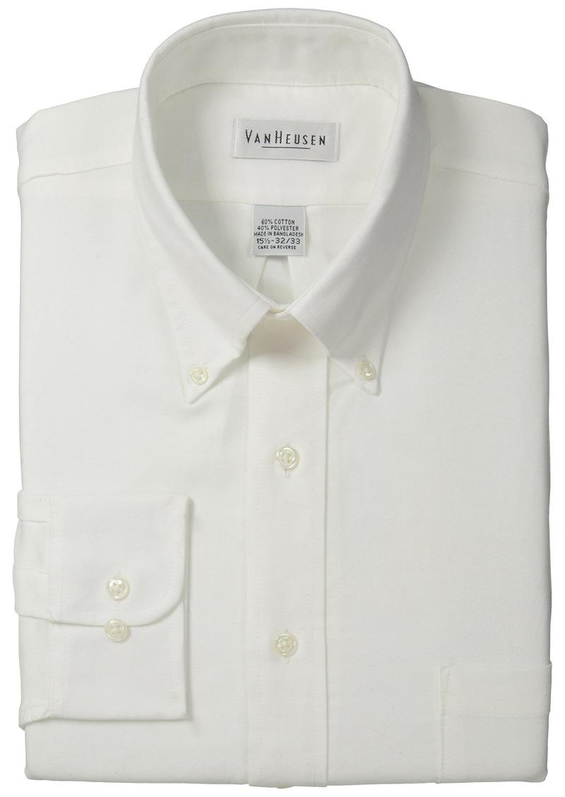 Van heusen van heusen men 39 s long sleeve oxford dress shirt for Mens oxford dress shirts