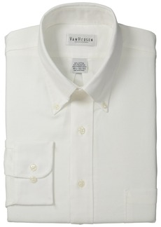 "Van Heusen Men's Long-Sleeve Oxford Dress Shirt  17"" Neck 32""-33"" Sleeve"