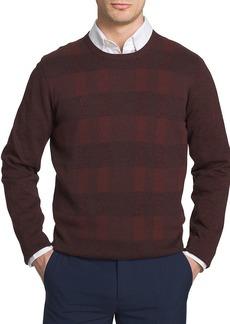 Van Heusen Men's Long Sleeve Plaid Crew Sweater