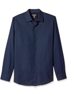 Van Heusen Men's Long Sleeve Printed Shirt  Small