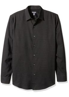 Van Heusen Men's Long Sleeve Printed Shirt Black