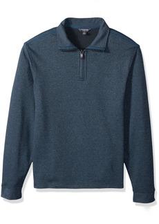 Van Heusen Men's Long Sleeve Spectator Solid 1/4 Zip Shirt  2X-Large