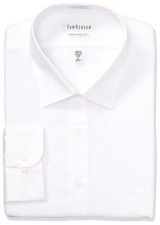 da1e9906bc22 Van Heusen Men's Lux Sateen Regular Fit Solid Spread Collar Dress Shirt