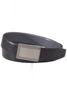Van Heusen Men's Men's Laser Finish Plaque Reversible Leather Belt black/Grey
