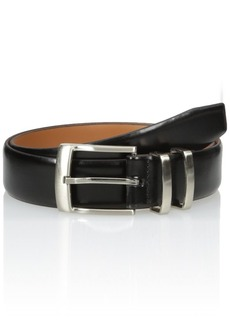 Van Heusen Men's Men's Leather Belt With Metal Double Loop black