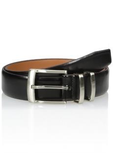 Van Heusen Men's Men's Leather Belt With Metal Double Loop black