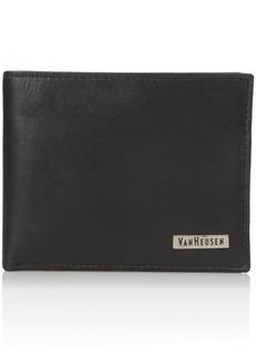 Van Heusen Men's Men's Leather Passcase Wallet black