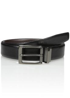 Van Heusen Men's Men's Reversible Traveler Leather Belt black
