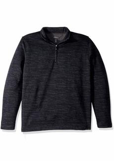 Van Heusen Men's Never Tuck Long Sleeve Space Dye 1/4 Sweater Fleece Pullover